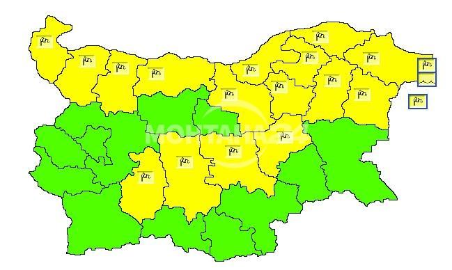 Жълт код за силен вятър ни очаква в неделя