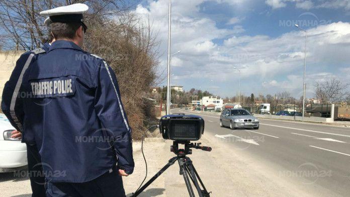 503 нарушения на скоростта само за седмица в Монтанско