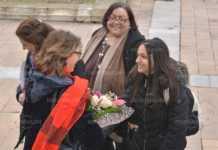 Посланикът на Конфедерация Швейцария в България Мюриел Берсе Коен посети Монтана заедно със 17-годишната Евелина Димитрова от село Галиче.