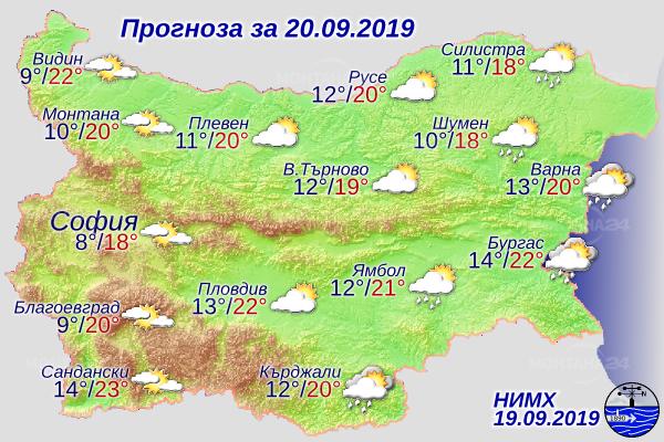 До 21 градуса ще достигнат температурите днес в региона