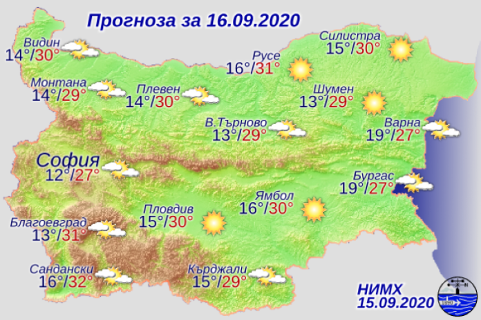 Максималните температури остават високи