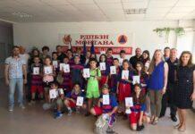"""Учениците от Второ СУ """"Н. Й. Вапцаров"""" гр. Монтана спечелиха регионалното състезание за действия при наводнения"""